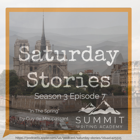 Saturday stories podcast art - in the spring